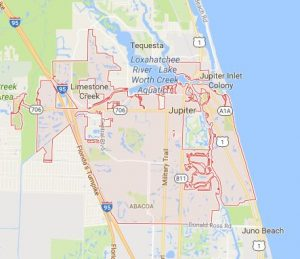 jupiter florida map